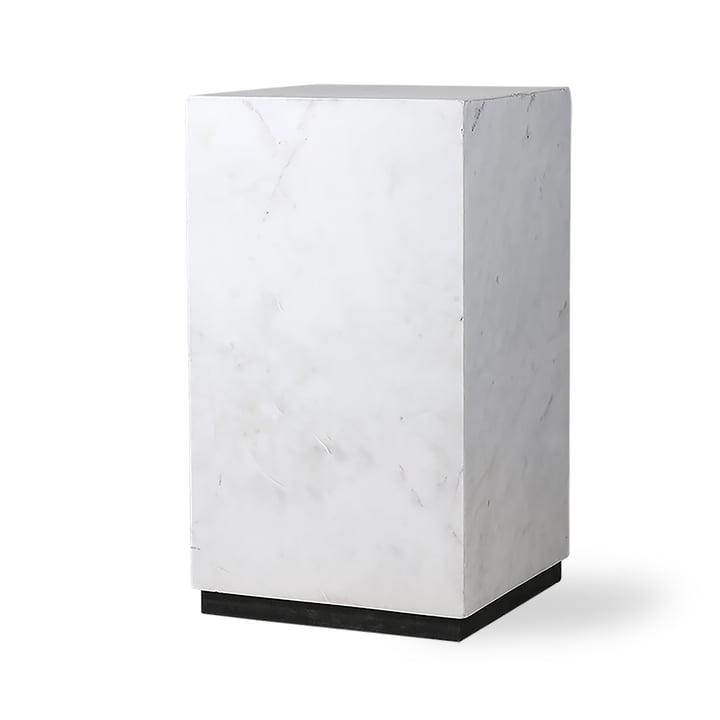 Block Beistelltisch S, Marmor, weiß/schwarz von HKliving