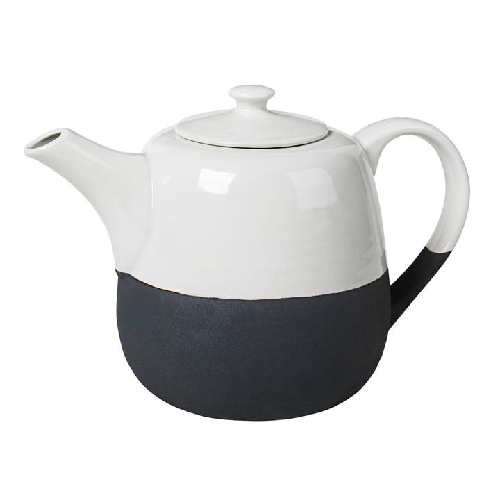 Esrum Teekanne 1,3 l, elfenbein glänzend / grau matt von Broste Copenhagen