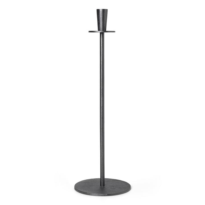 Hoy Casted Kerzenhalter H 55 cm, schwarz von ferm Living