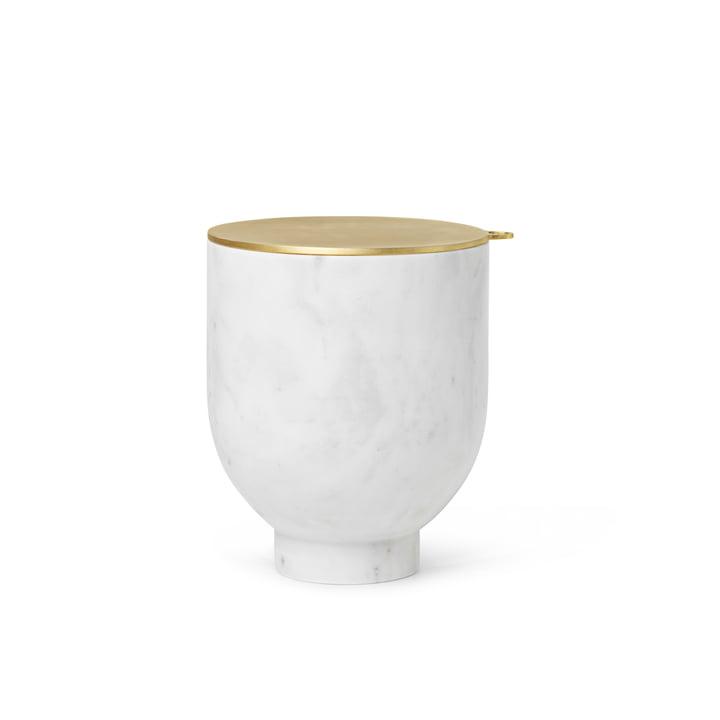 Alza Eiswürfelbehälter von ferm Living, Marmor weiß / Messing