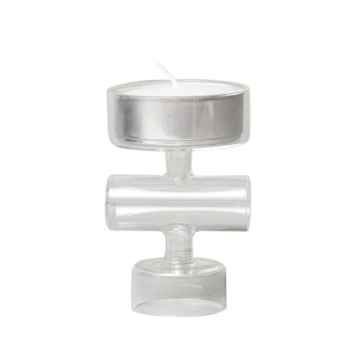 Cartwheel Kerzenständer, Glas von Form & Refine