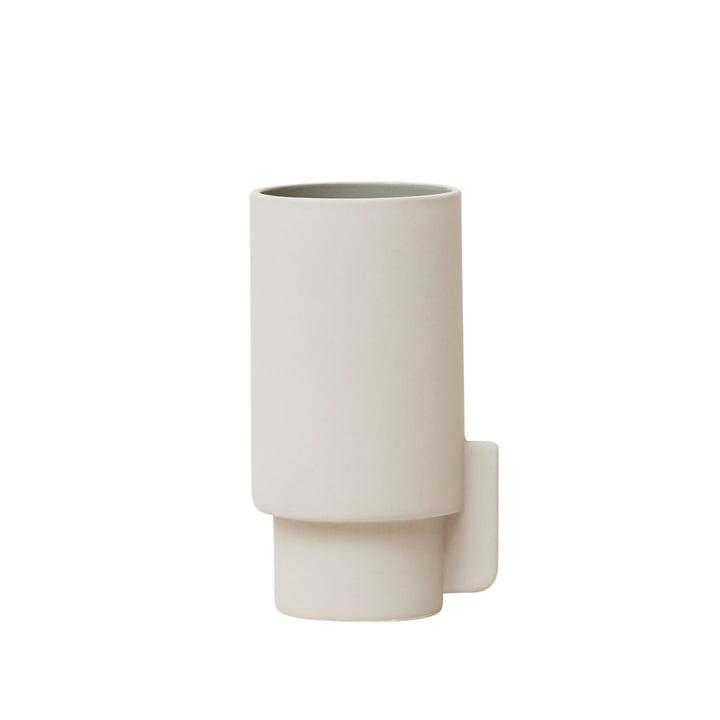 Alcoa Vase, klein, Ø 6,3 H 12,5 cm, Hellgrau von Form & Refine