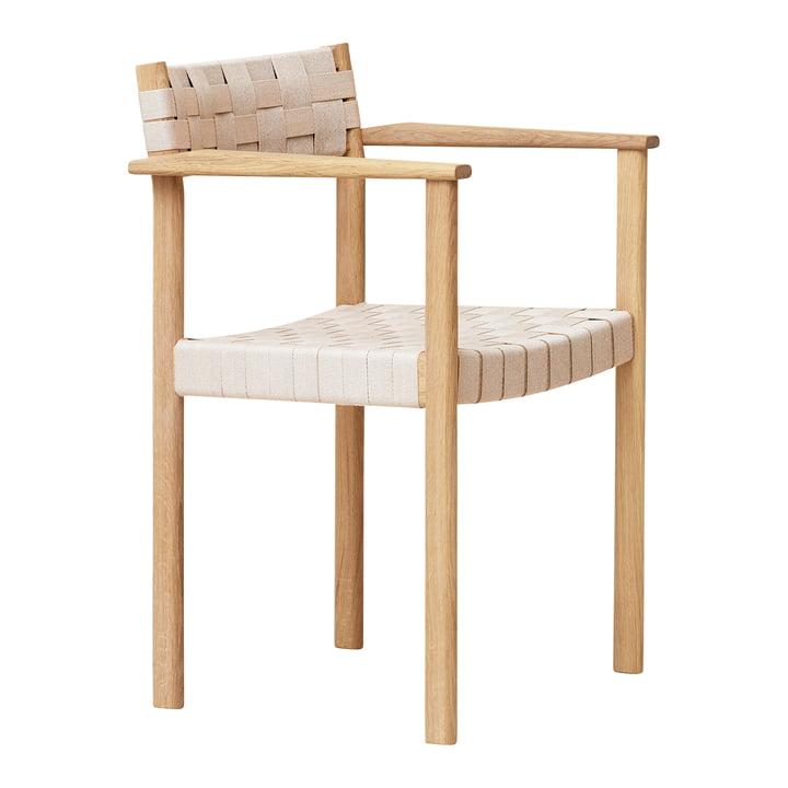 Motif Armlehnstuhl, Eiche weiß pigmentiert von Form & Refine