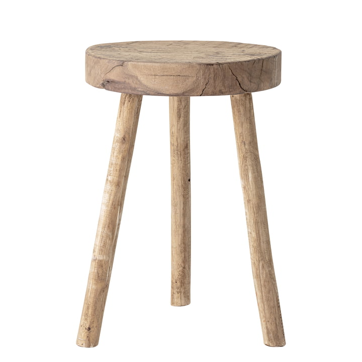 Banu Stool, Nature, Recycled wood von Bloomingville