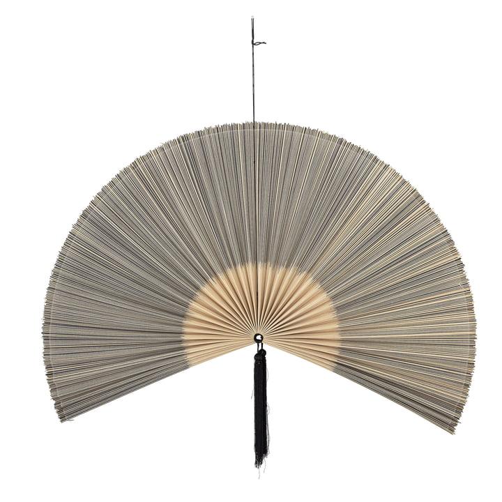 Jaime Wanddeko Fächer, 145 x 72 cm, Bambus / schwarz von Bloomingville.