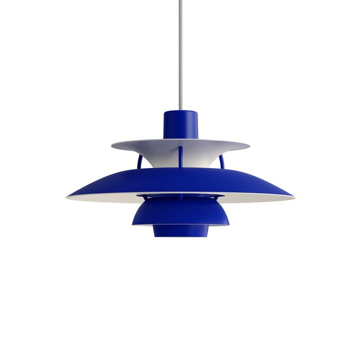 PH 5 Mini Pendelleuchte, monochrome blue von Louis Poulsen.