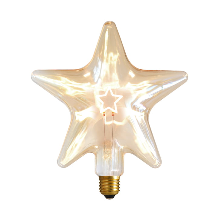 LED Star, E 27 / 0,75 W, gold Amber, dimmbar von NUD Collection