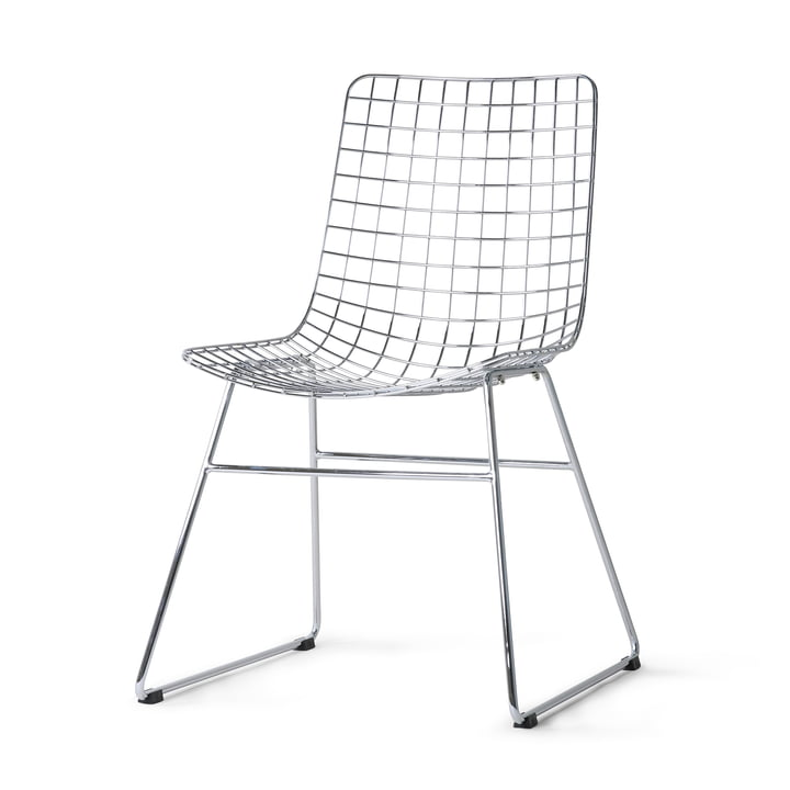 HKliving - Wire Chair, chrom
