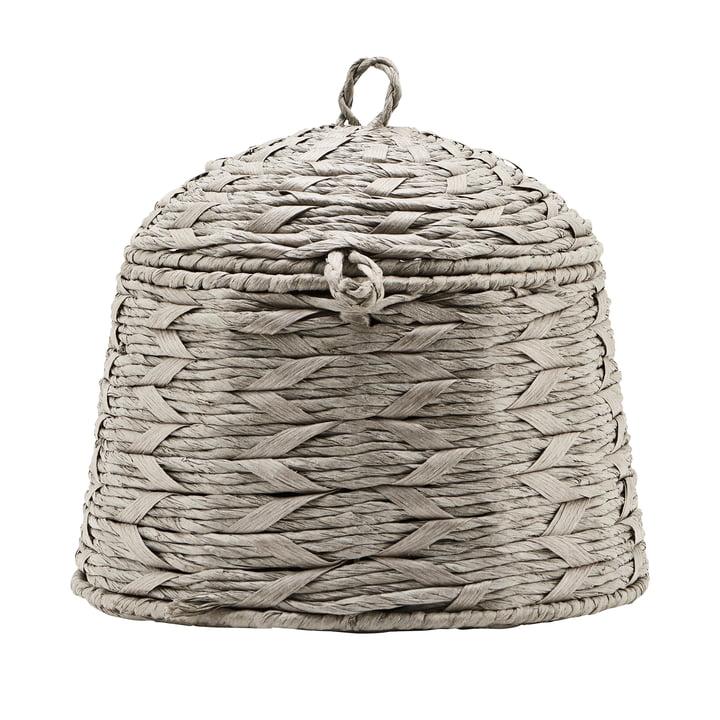 Der Korb mit Deckel, Reve, Ø 28 cm, grau von House Doctor