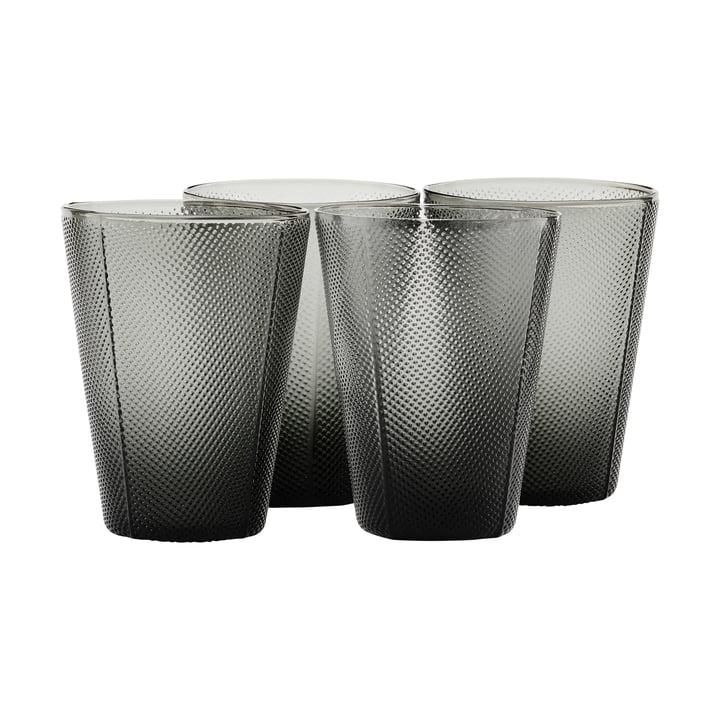 Das Milo Glas, rauchgrau (4er- Set) von House Doctor