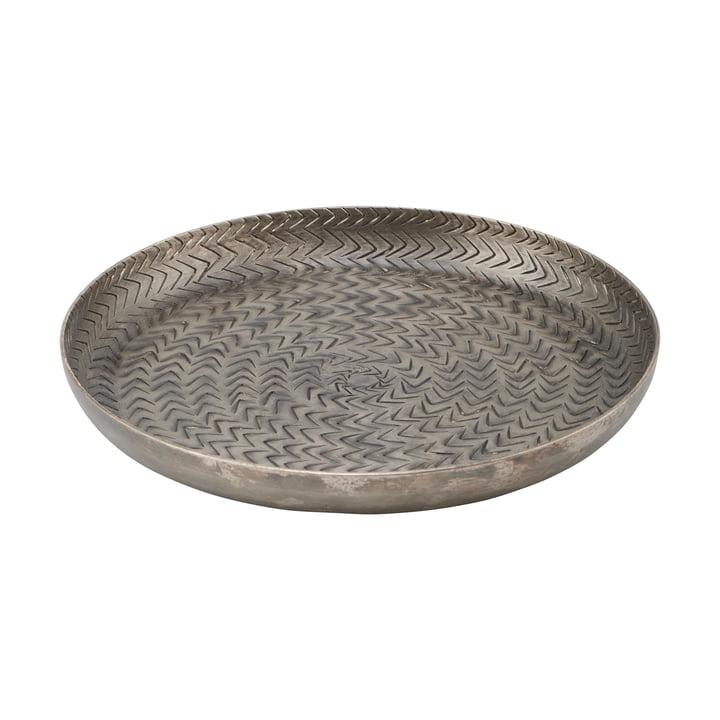 Das Rattan Tablett, Ø 20 cm, mattschwarzes Finish von House Doctor