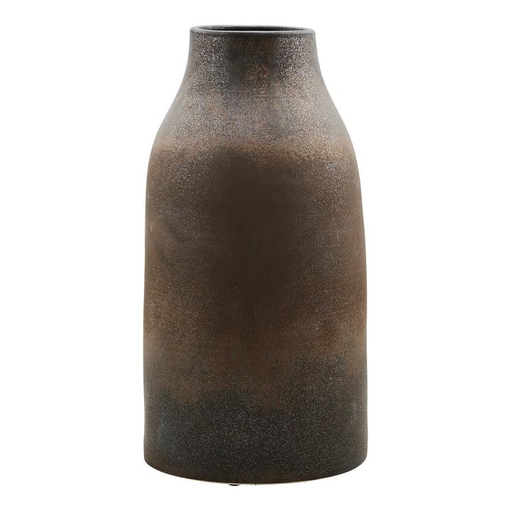 Die Vase Wymm, Ø 32 x H 65 cm, schwarz / braun
