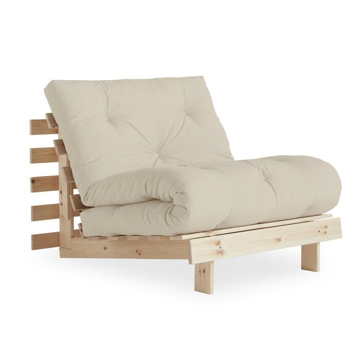 Der Roots Schlafsessel 90 cm, Kiefer natur / beige (747) von Karup Design