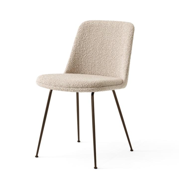Der Rely Chair HW9, Stahl bronziert / Karakorum 003 von &tradition