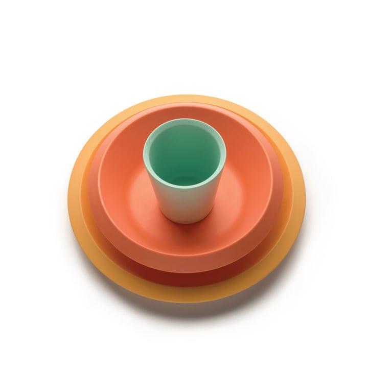 Das Giro Kids Kindergeschirr S1, gelb / orange / grün (3-tlg.) von Alessi