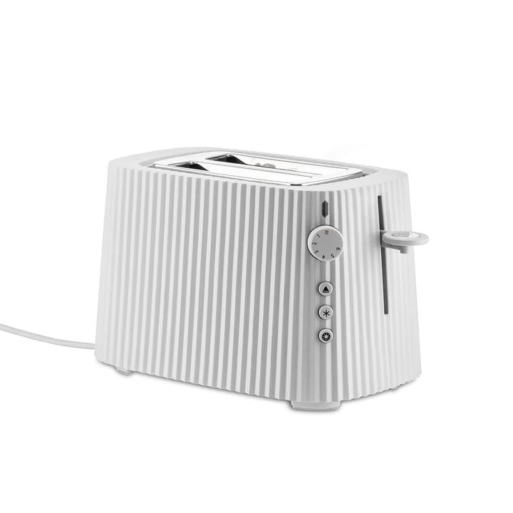 Der Plissé Toaster, weiß von Alessi