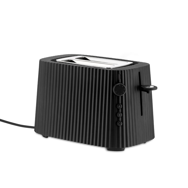 Der Plissé Toaster, schwarz von Alessi