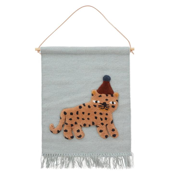 Der Leopard Wandteppich, dusty blue von OYOY