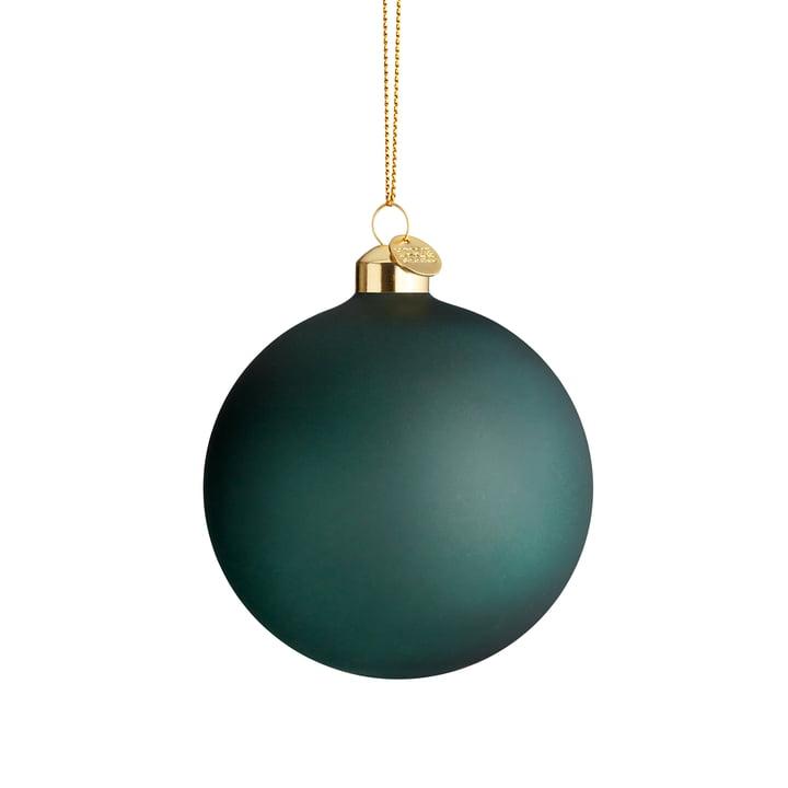 Die Souvenir Weihnachtskugel, Ø 8 cm, dunkelgrün von Holmegaard