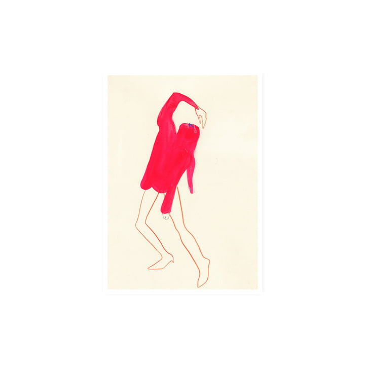 The Pink Pose Poster, 30 x 40 cm von Paper Collective