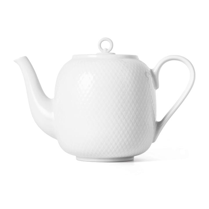 Die Rhombe Teekanne, 1,9 l, weiß von Lyngby Porcelæn