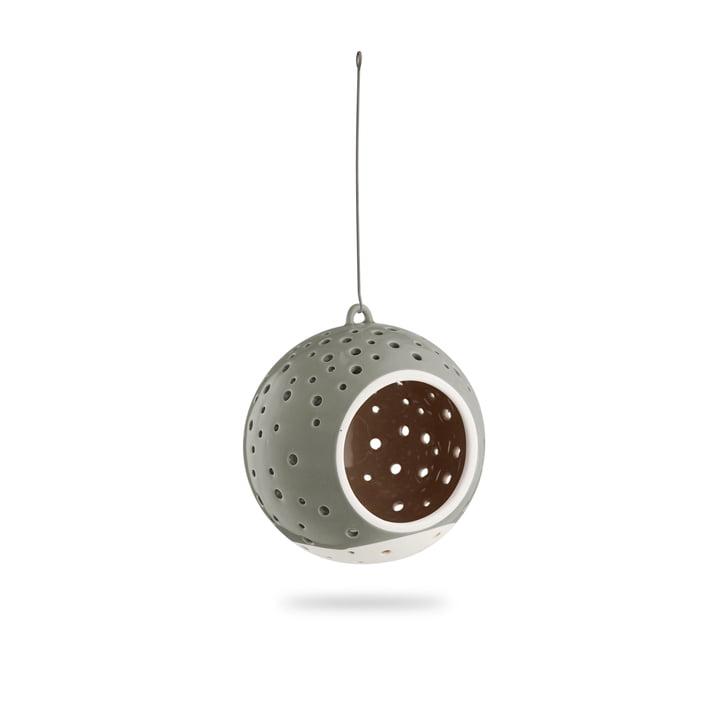 Nobili Teelichtleuchter Kugel Ø 12 cm, hängend / olivgrün von Kähler Design