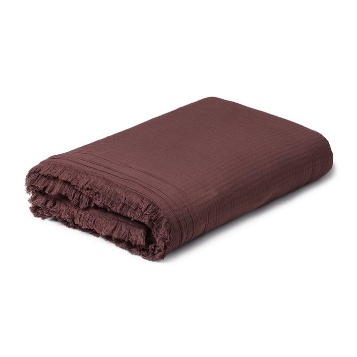 View Decke 130 x 190 cm, chocolate von Juna