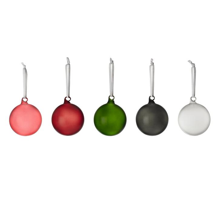 Glaskugeln von Iittala in verschiedenen Farben (5er-Set)