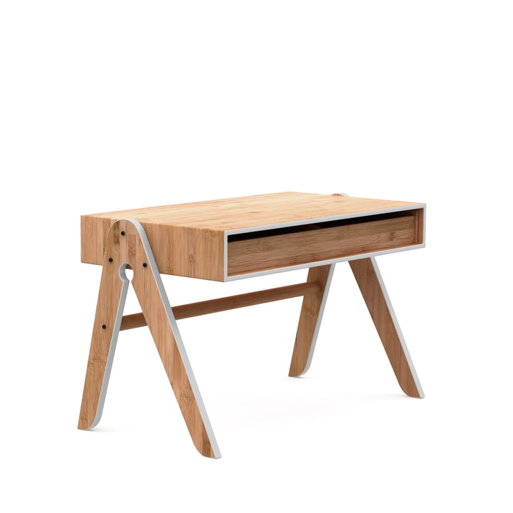 Der Geo's Table, Buche / Bambus / hellgrau von We Do Wood