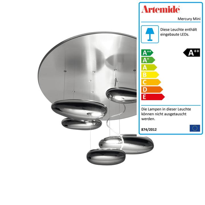 Mercury Mini LED-Deckenleuchte, 2700K / Chrom poliert von Artemide