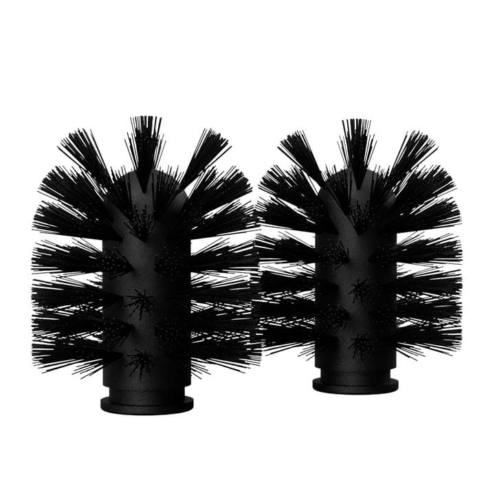 Die Ersatz Bürstenköpfe von Nichba Design in schwarz