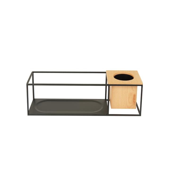 Das kleine Cubist Wandregal mit Holzbehälter von Umbra