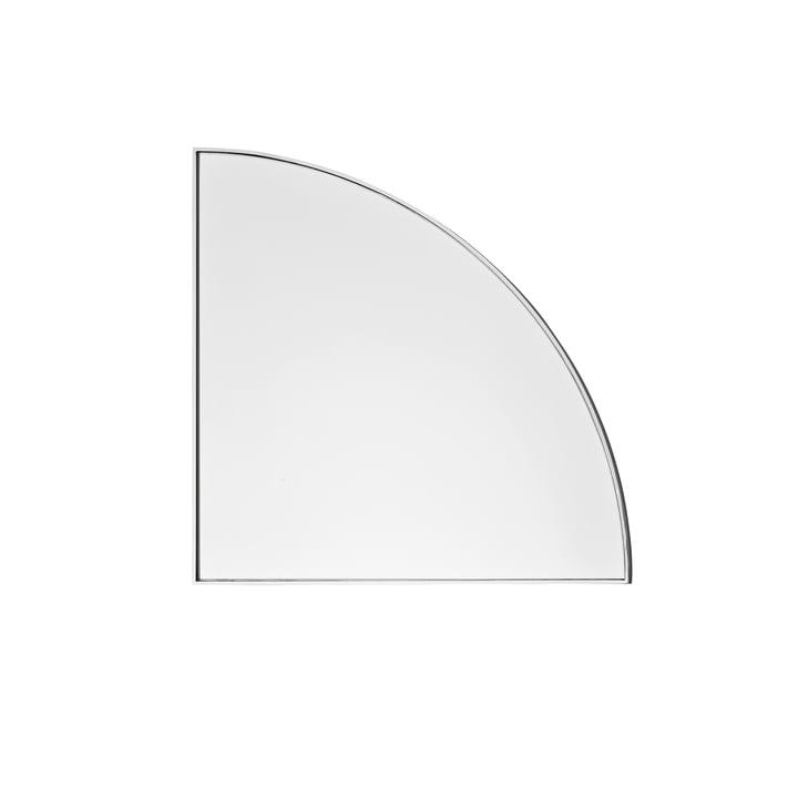 Der Unity Wandspiegel in silber von AYTM