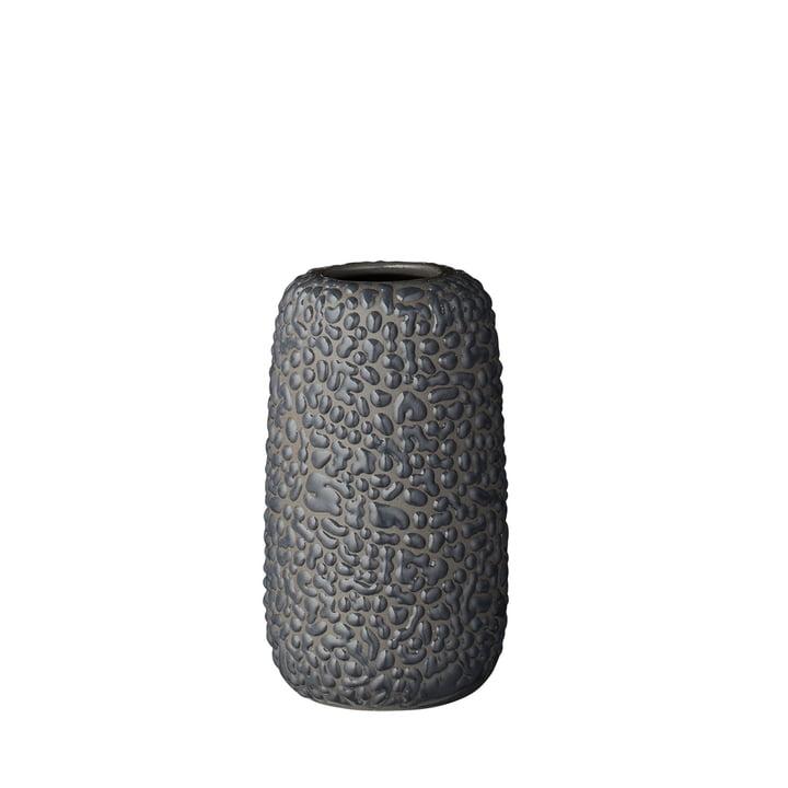 Die Gemma Vase, small, dunkelgrau von AYTM