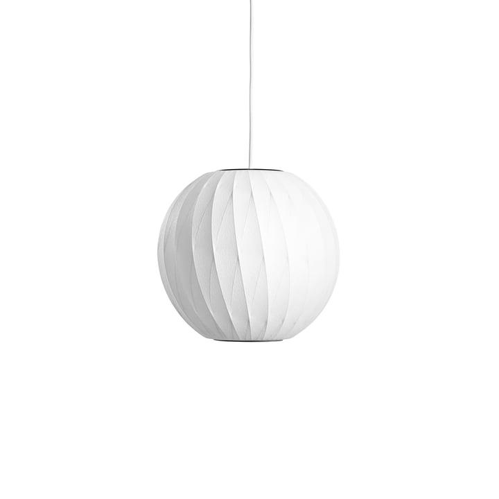 Die Nelson Ball Crisscross Bubble Pendelleuchte S, off white von Hay