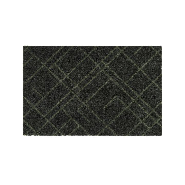 Die Lines Fußmatte in dunkelgrün von tica copenhagen