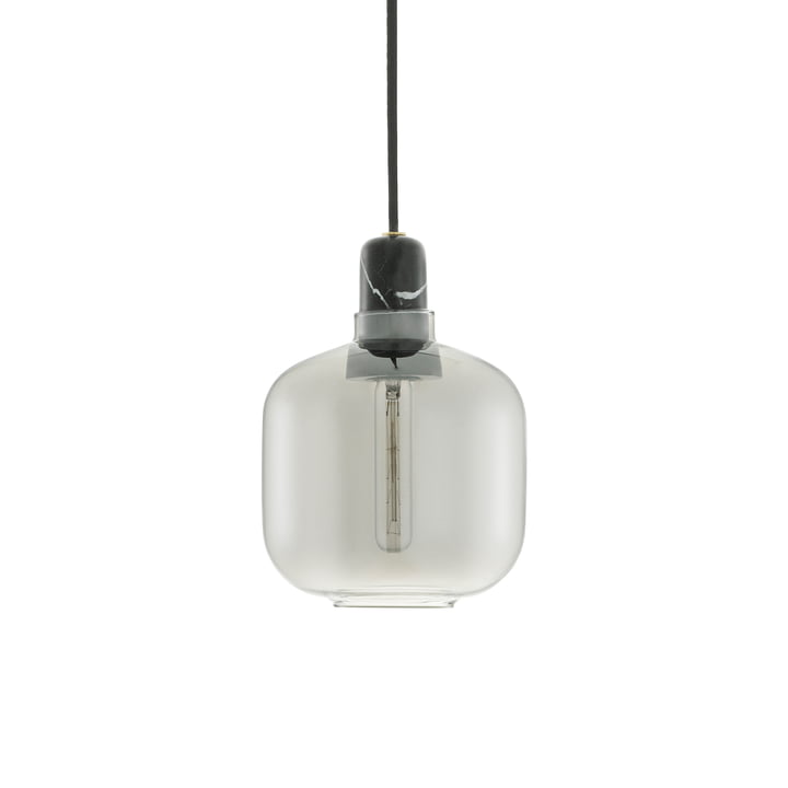 Amp Pendelleuchte small von Normann Copenhagen in Smoke / Black