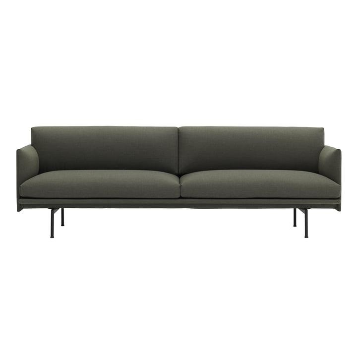 Das Outline Sofa 3-Sitzer von Muuto in grün fiord 961