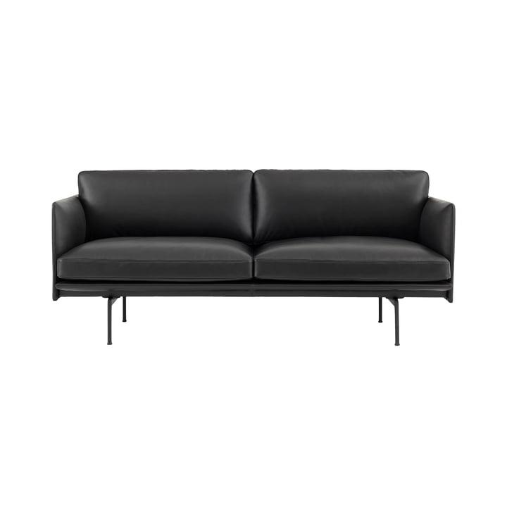 Das Outline Sofa 2-Sitzer von Muuto in schwarz