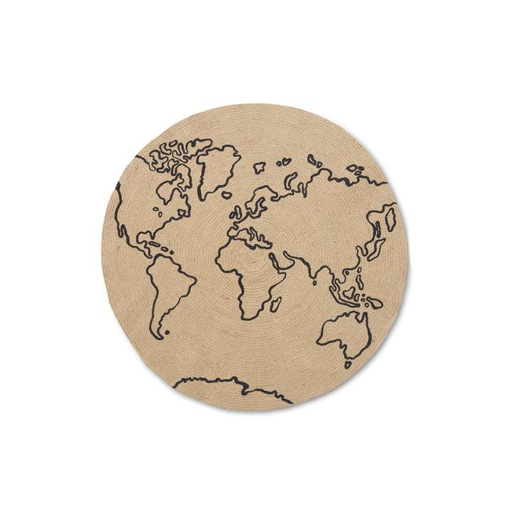 Der World Jute Teppich von ferm Living, Ø 100 cm