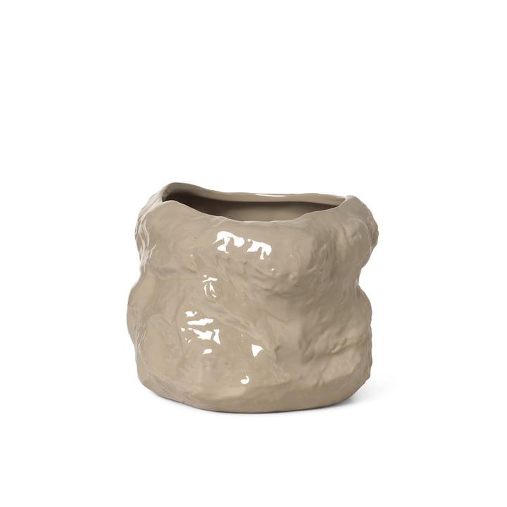 Der kleine Tuck Pflanztopf von ferm Living in cashmere