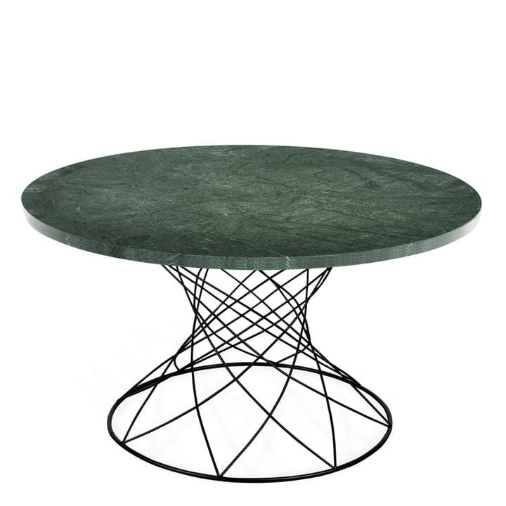Der Merge Couchtisch H 45 Ø 80 cm, schwarz / Marmor grün von Ox Denmarq