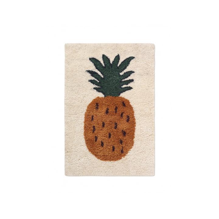 """Der Fruiticana Teppich """"Ananas"""" von ferm Living, 80 x 120 cm"""