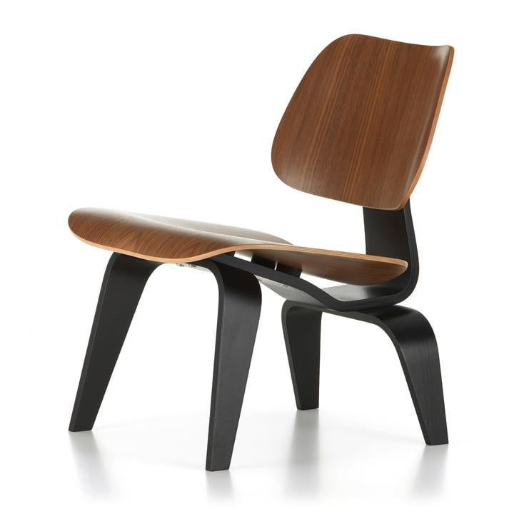 Plywood Group LCW, Nussbaum schwarz pigmentiert / Esche schwarz (75. Jubiläums-Edition) von Vitra