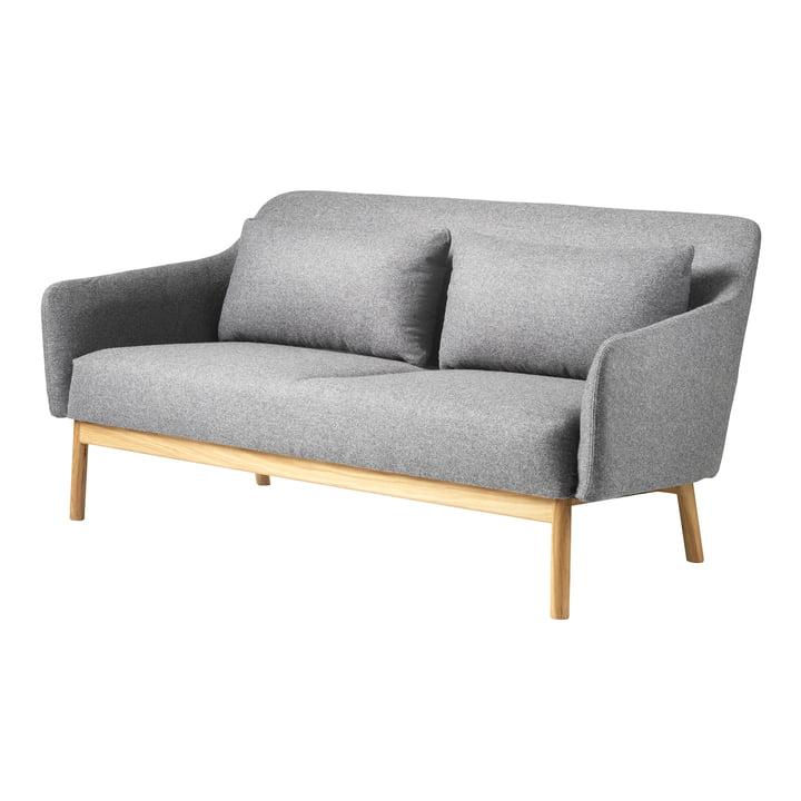Das Gesja 2-Sitzer Sofa von FDB Møbler in Eiche natur / Gray Melange