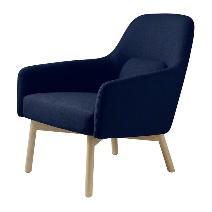 Der L33 Gesja Sessel von FDB Møbler in Eiche natur / royal blue