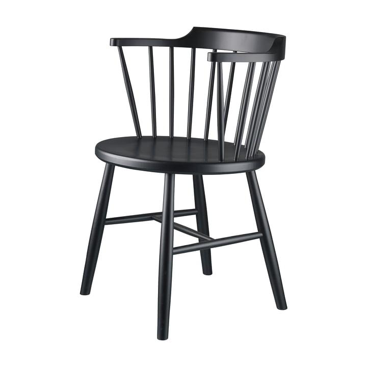 J18 Stuhl von FDB Møbler Buche schwarz