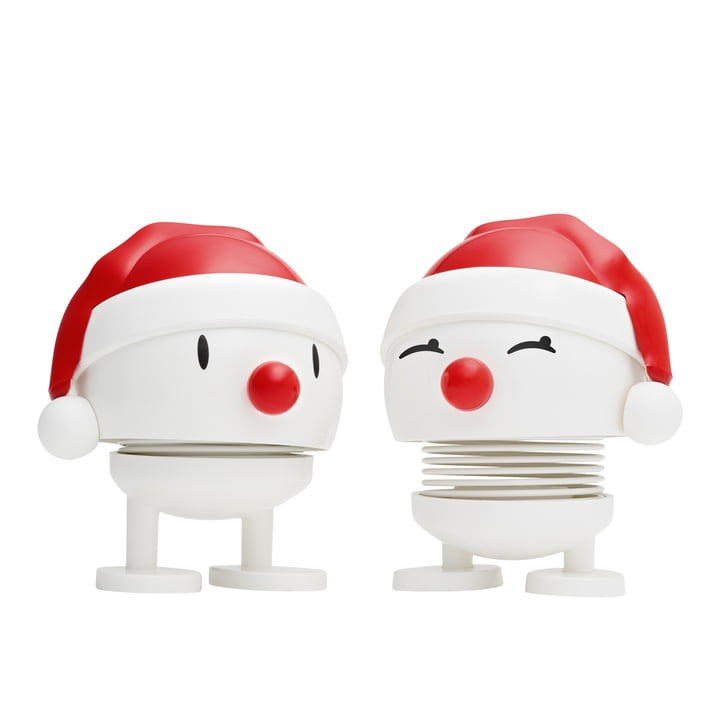 Nosy Santa, small / weiß (2er-Set) von Hoptimist