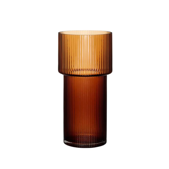 Die Vase von Hübsch Interior, bernsteinfarben