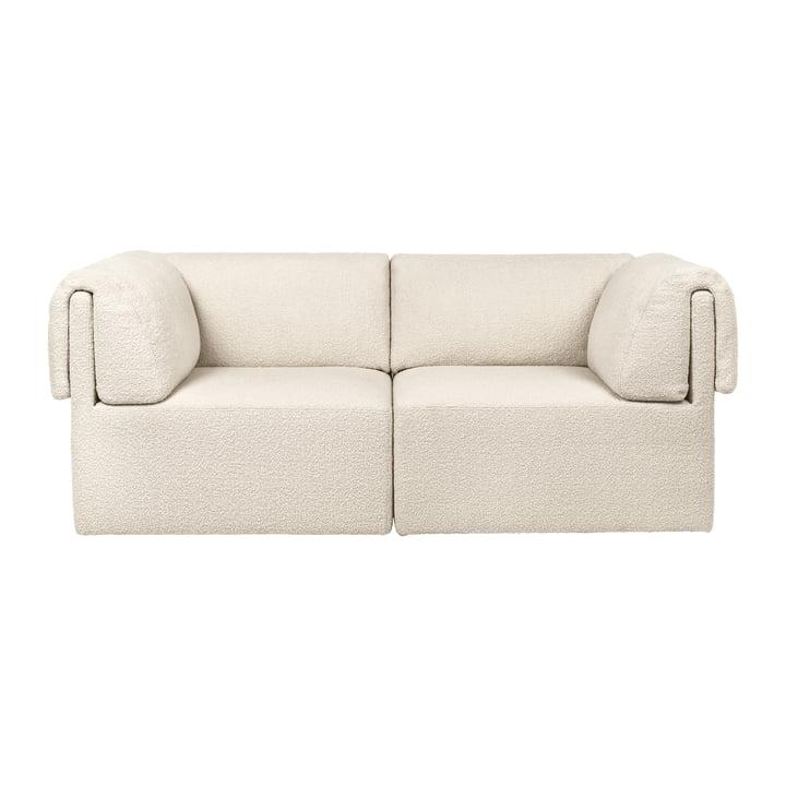 Wonder Sofa, 2-Sitzer, Karakorum, creme von Gubi